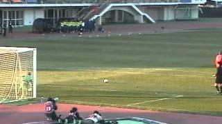 高校サッカー選手権1回戦 聖和学園vs香川西 PK戦 20111231