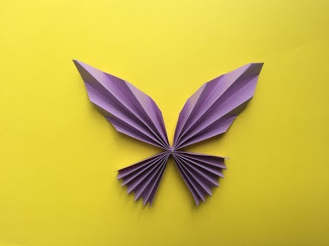 How to make a paper butterfly   Easy Paper Butterfly Origami   Crafts Paper BUTTERFLIES (very EASY)
