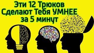 эти 12 способов помогут быстро поумнеть и прокачать мозг  Как стать умным за 5 минут и креативным