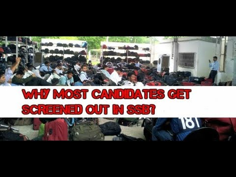REASONS OF GETING SCREENED OUT EXPLAINED!!! || SSB SCREENING SERIES!!!