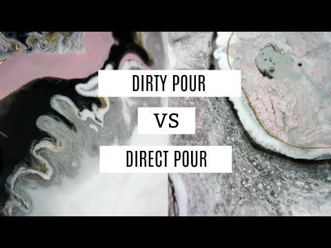 Dirty Pour VS Direct Pour (resin art)