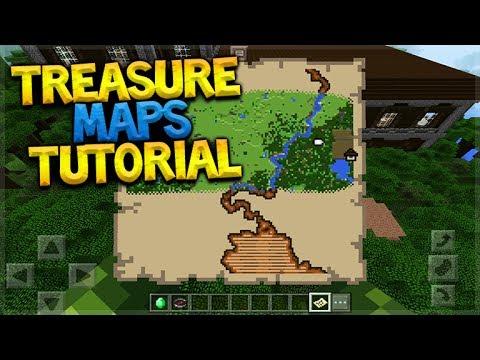 HOW TO USE TREASURE MAPS!! Minecraft Pocket Edition 1 1 Treasure Maps  Tutorial (Pocket Edition)