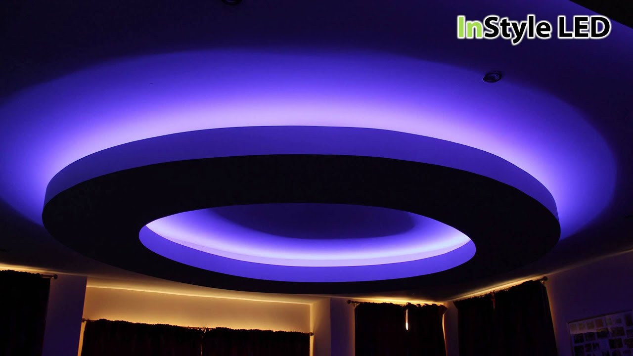 rgb led tape lighting creates this striking luxury residential