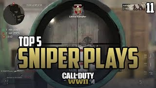 COD WWII: TOP 5 SNIPER PLAYS OF THE WEEK #11 - Call of Duty World War 2