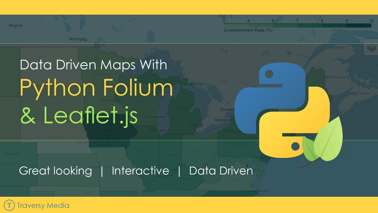 Data Driven Maps With Python Folium & Leaflet js