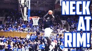 ZION WILLIAMSON NECK AT RIM!!! ALL DUKE SCRIMMAGE DUNKS!!!