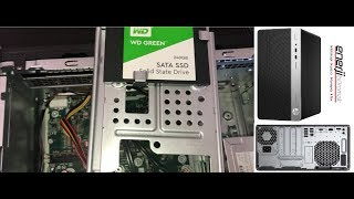 HP desktop computer ssd installation, box content and review / HP ProDesk 400 G5 Microtower PC