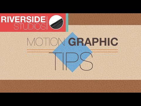 8 Motion Graphic Tips for Beginners