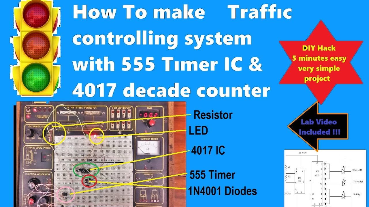 Make A Traffic Light Controller Project Using 555 Timer Ic 4017 Circuit Diagrams Image Diagram Facebook