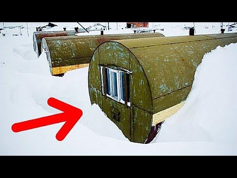 Вот почему на севере люди предпочитают жить в цистернах! - Видео онлайн