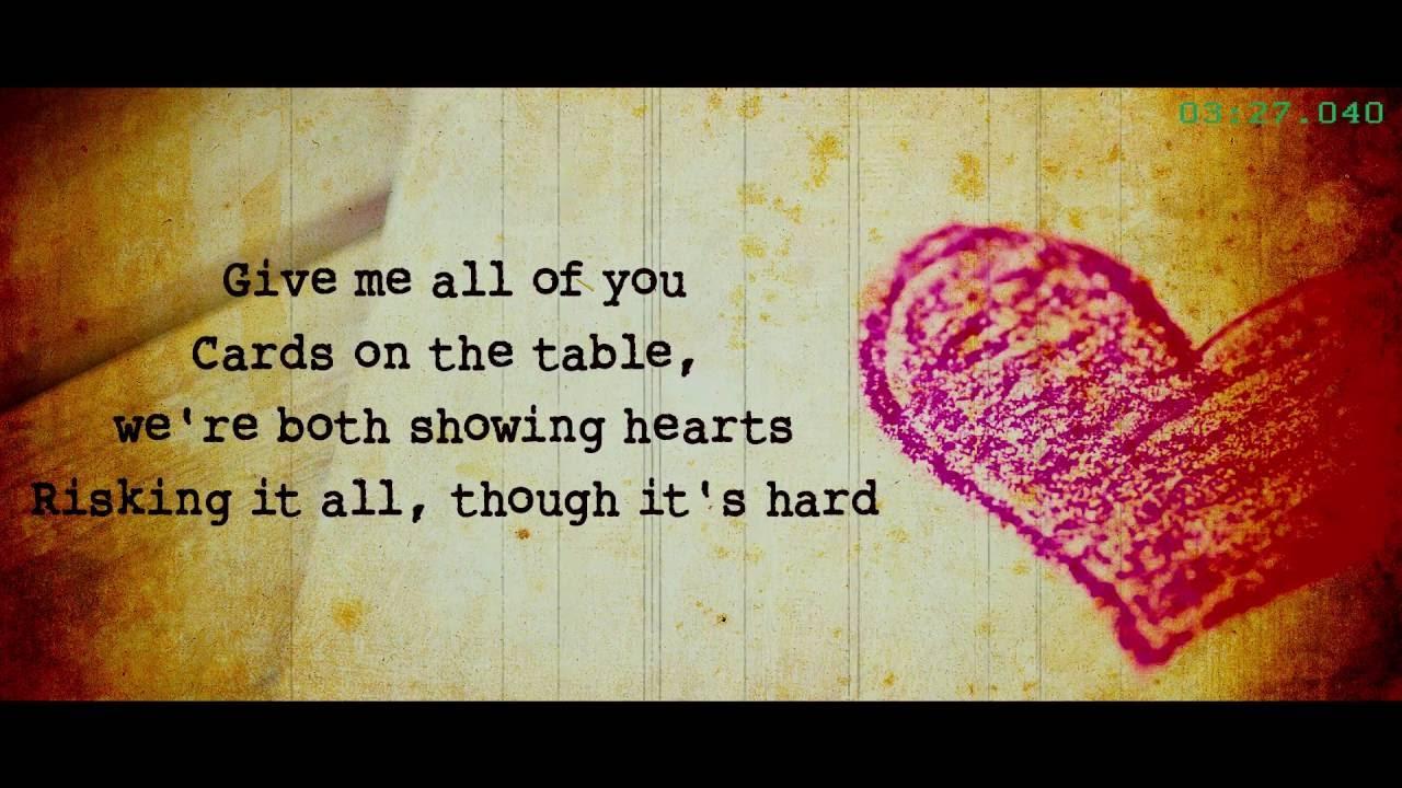 John Legend All Of Me With Lyrics