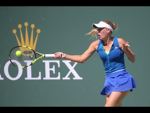 2017 BNP Paribas Open Round of 16 | Caroline Wozniacki vs Madison Keys | WTA Highlights