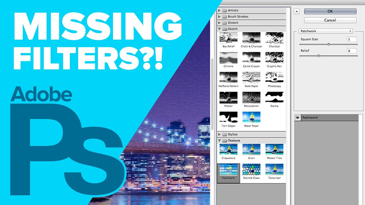 How to Find Missing Filters in Photoshop