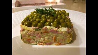 Интересная подача салата Оливье! 3 салата на Новый год!