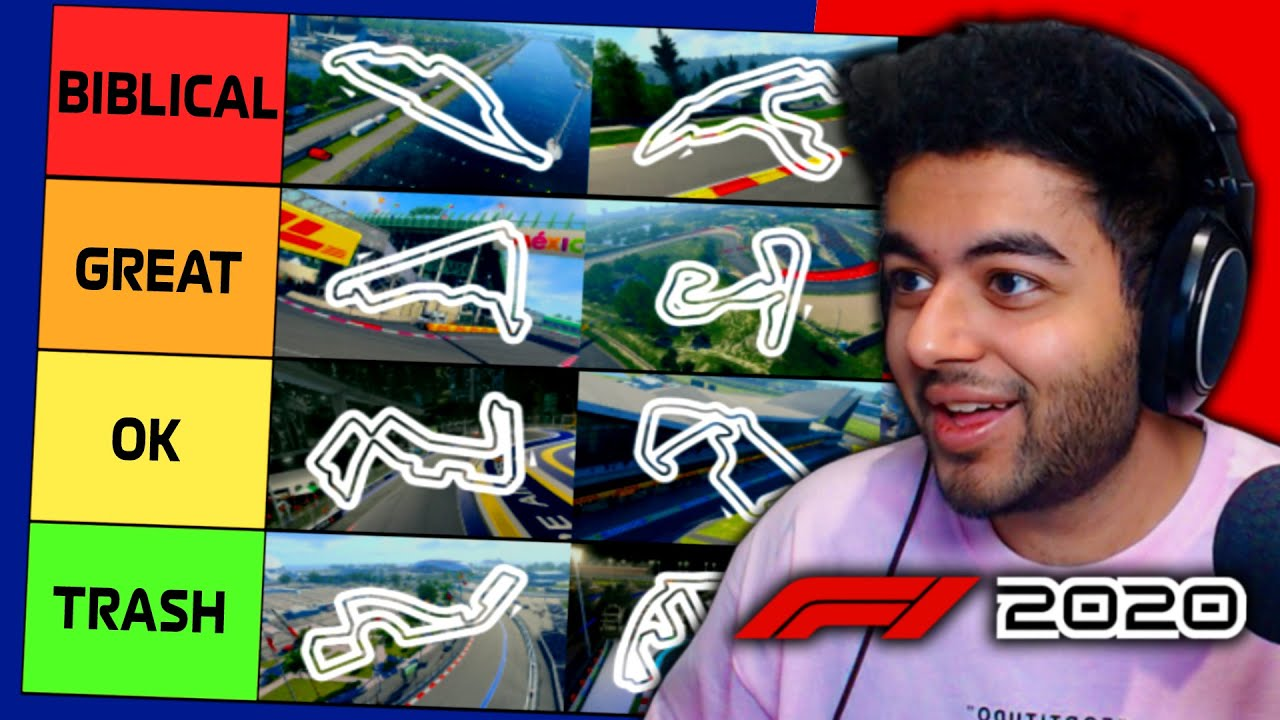 F1 2020 Circuit Tier List – Ranking Tracks on the 2020 Formula 1 Game! – YouTube