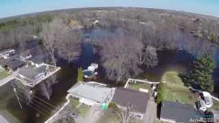 (Belleville) Foxboro Flood Aerial video (FPV), 04 19 2014. Filmed by: Brock Tompkins