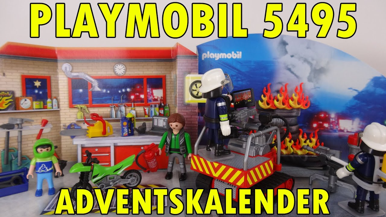 playmobil 5495 adventskalender feuerwehreinsatz. Black Bedroom Furniture Sets. Home Design Ideas