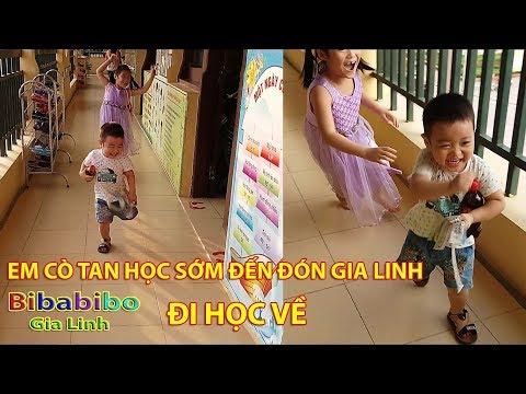 Em Cò tan học sớm đón Gia Linh đi học về 2 chị em chơi Xích đu Cầu trượt