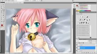 Drawing Neko Girl (Kinda Ecchi)