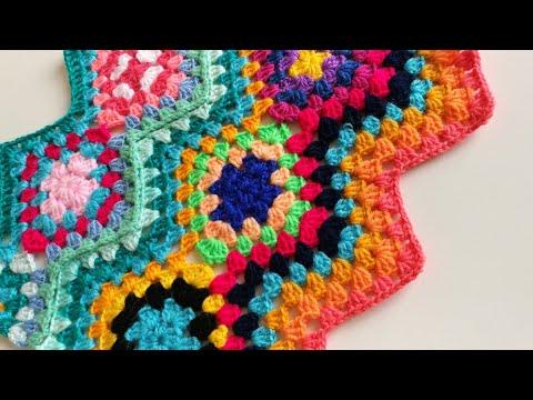 Zikzag Ve Motifli Battaniye 🌷/Zigzag Blanket  Crochet Tutorial & Pattern 💗