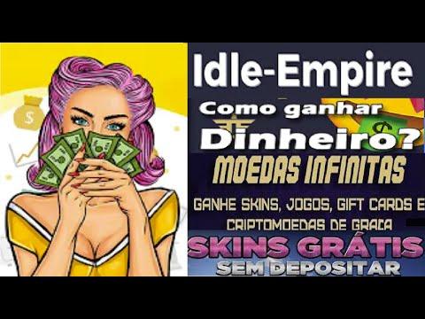 Idle-Empire | Ganhe $1 assistindo vídeo | Ganhe Skins Grátis | CriptoMoedas de Graça | Home Office