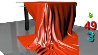 Модификатор Cloth 👗 Ткань в 3DS MAX. 🙫 Создание ткани. Моделирование скатерти. Интерьер. Урок 49