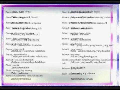 iNama Anak Laki Lakii Dalam Islam W Y Z YouTube
