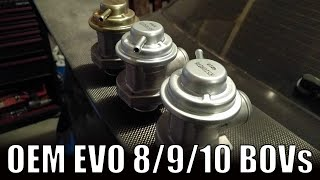 Mitsubishi Lancer Evolution BOV differences //  EVO 8 vs EVO 9 vs EVO 10 Blow Off Valve