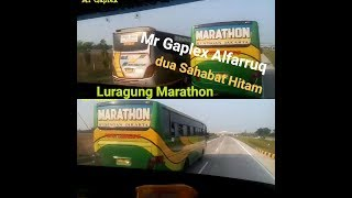 Kejar kejarran bus Alfarruq Vs Luragung Marathon,Sahabat