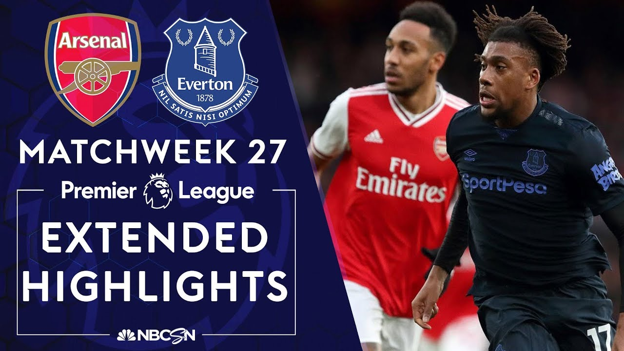 Arsenal v. Everton | PREMIER LEAGUE HIGHLIGHTS | 2/23/2020 | NBC Sports