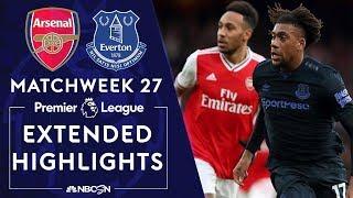 Arsenal V. Everton | Premier League Highlights | 2/23/2020 | Nbc Sports