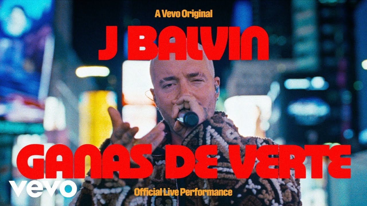 Download J Balvin - Ganas De Verte (Official Live Performance)   Vevo
