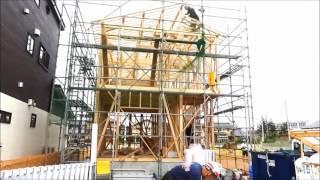【共和ホームの家づくり】 建て方(1分編)