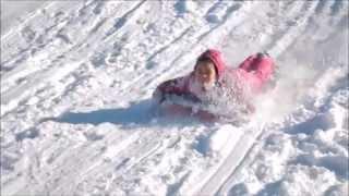Toddler Sled - Kids Having Fun In The Snow