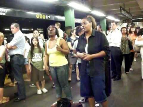 NYC subway gospel singers
