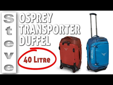 Best Carry On Luggage - OSPREY WHEELED DUFFEL 40 Review