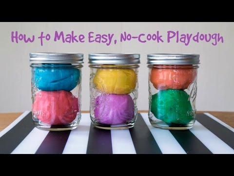 How To Make Easy, No-Cook Playdough