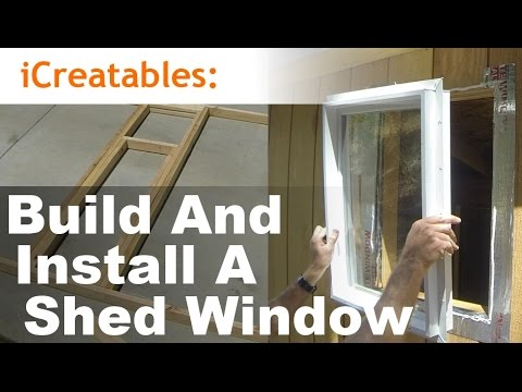 How To Build And Install A Shed Window Youtube