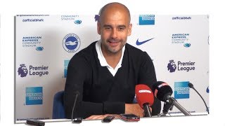 Brighton 0-2 Manchester City - Pep Guardiola Full Post Match Press Conference - Premier League