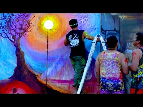 Origin of Spirit - Mural Timelapse by After Skool