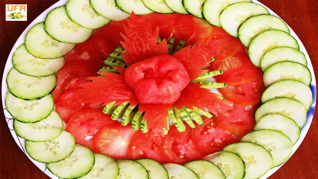 Vegetable Carving With Tomato Beautiful Art i...