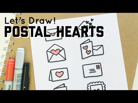 Let's Draw : Postal ♥ Heart ♥ Doodles | Doodles By Sarah