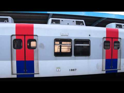 Korail Line 1 local & Gyeongin express trains at Jemulpo