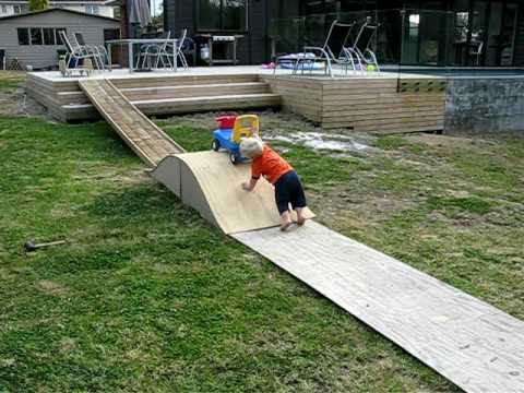 Baby Nails Home Made Skate Ramp Youtube