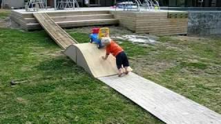 Baby Nails Home Made Skate Ramp