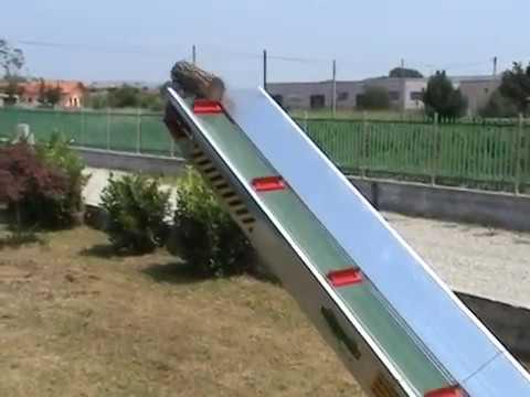 tapis monte bois hydraulique - elevateur pour bois - youtube