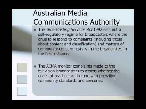LWS011 Week 12 Content Regulation & Broadcasting Law