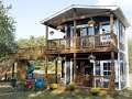 Dad Builds Amazing Two Story Playhouse For His Daughters...