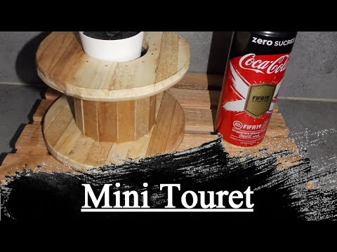 Tuto: Fabriquer un mini touret, cache pot plante grasse, Make a mini drum, hide plant pot fat, Diy