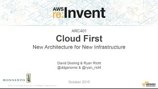 AWS re:Invent 2015 | (ARC401) Cloud First: New Architecture for New Infrastructure